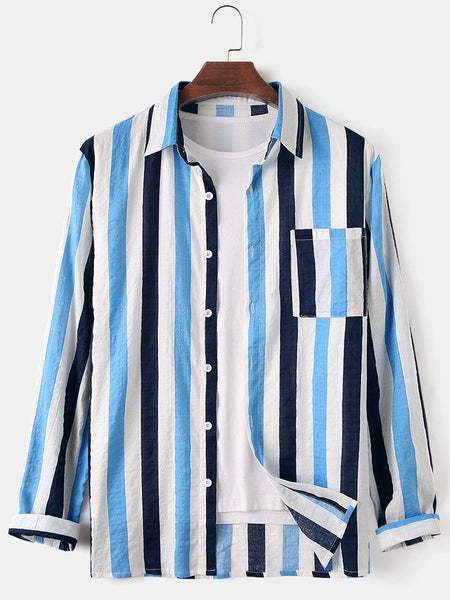 Set of 03 New Style Stripe Embroidered Shirt
