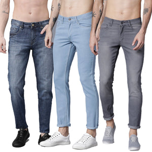Multicolored Pack Of 3 Slim Jeans For men