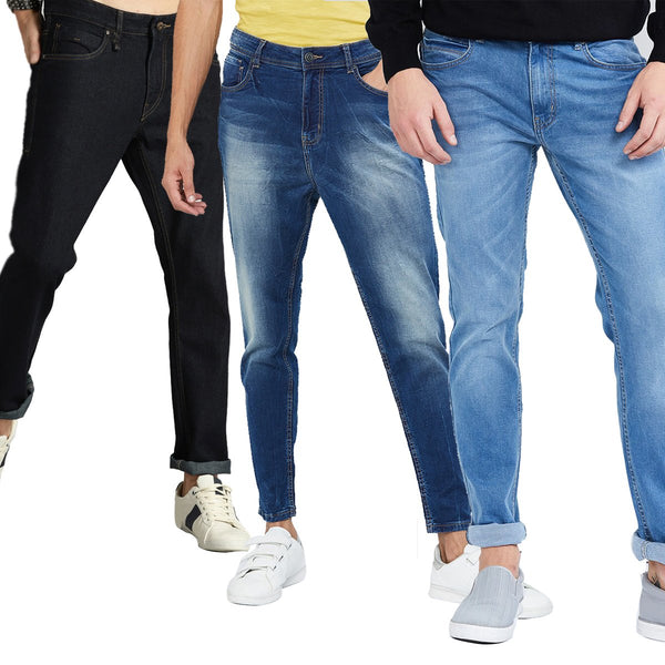 Boys' Slim Fit Jeans (Pack of 3)
