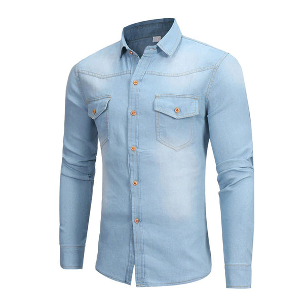 Pack Of Three Signature Slim Fit Denim Shirt
