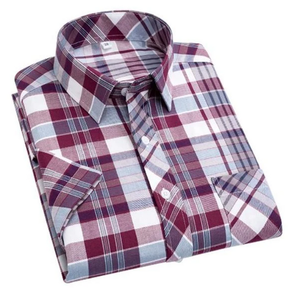 Combo of 03 Pure Cotton Summer Loose Plaid Mens Shirts