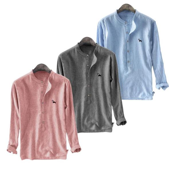 Pack of 03 Embroidery Cotton Male Shirt