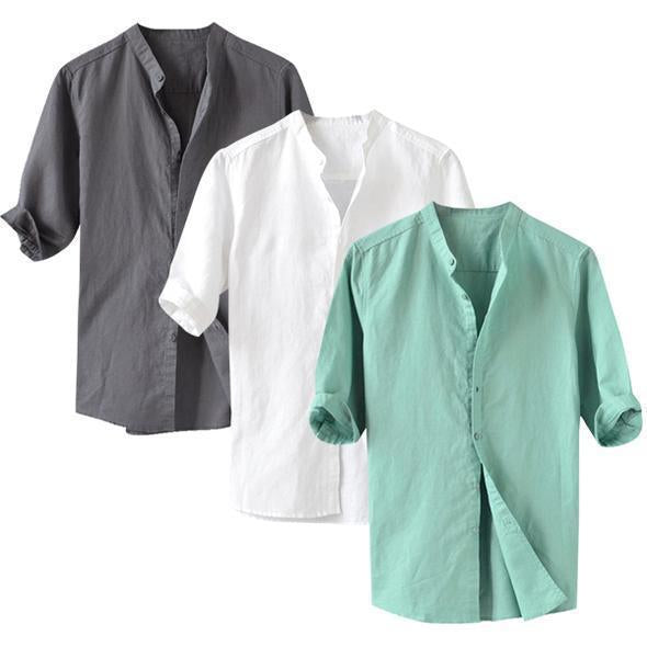 Combo Of 3 Cotton Casual Shirt for Men (Full Sleeves)