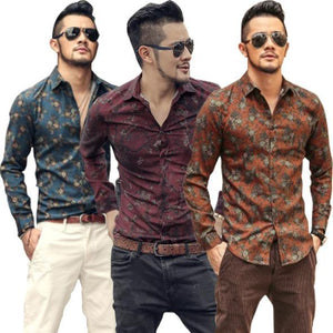 Pack of 3 Flower Print Shirts