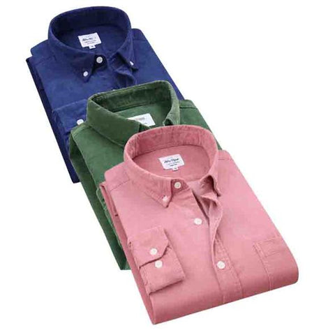 Pack of 03 Spring Men Corduroy Shirt