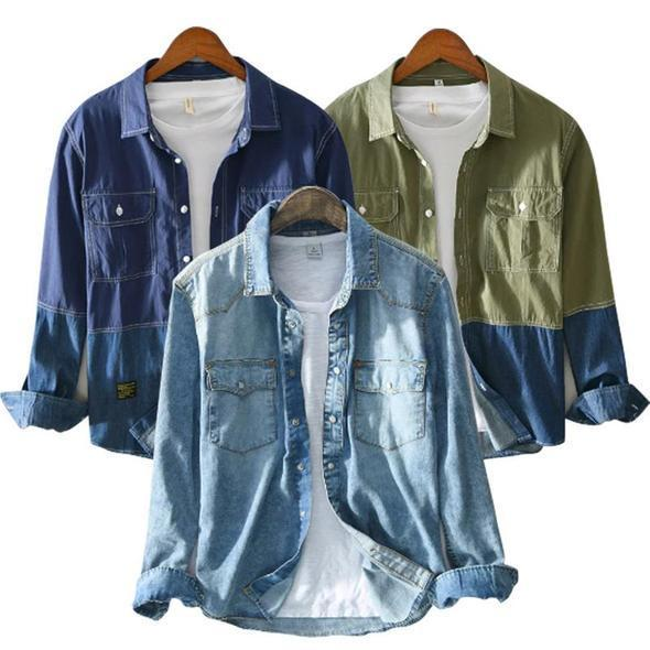 Pack of 03 Multiple pockets long sleeve shirts