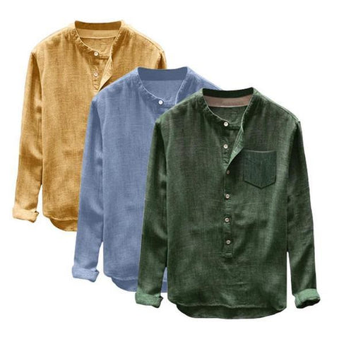 Combo of 03 Men's casual solid color shirt fashion
