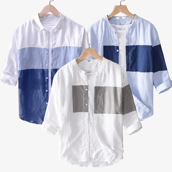 Combo Of 03 Casual Flax Shirt