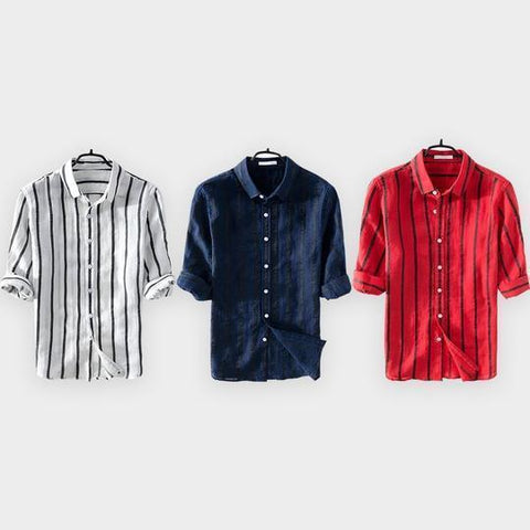 Combo Of Solid Slim Fit Shirts