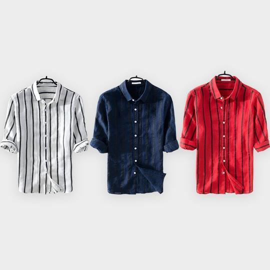 Combo Of 3 Solid Slim Fit Shirts