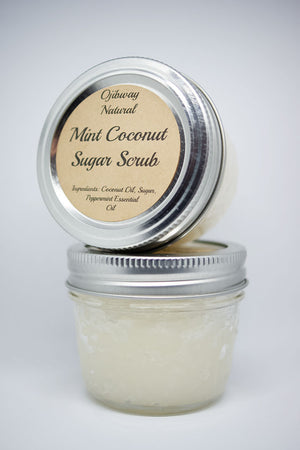 Load image into Gallery viewer, Sugar Scrub. Body Care. Body Wash.  Cosmetics. Mint Coconut. Ojiway Natural. Skin Care. Body Care. Scents. Deodorant. Natural Products. Ojibway Natural. Eau de Toilette. Deodorant. Sweet Grass. Natural Products. Ojibway Natural. Eau de Parfum. Luxurious. Make Up. Men. Women.