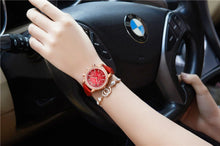 Load image into Gallery viewer, Luxury Brand Women Watches Red Leather