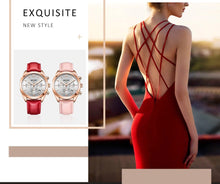 Load image into Gallery viewer, Luxury Brand Women Watches fashion Red Leather