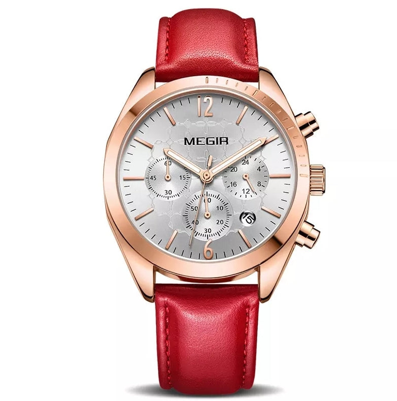 Luxury Brand Women Watches fashion Red Leather