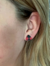 Load image into Gallery viewer, Buffalo Plaid Triangle Studs
