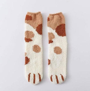 CUTE WINTER CAT CLAWS WARM SLEEP FLOOR SOCKS