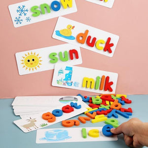 English Wooden Alphabet Letter Learning Toys
