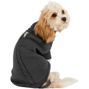 Ancol Muddy Paws Cable Knit Dog Jumper Grey