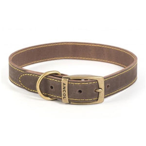 Ancol Timberwolf Leather Collar Sable