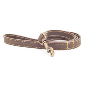 Ancol Timberwolf Leather Dog Lead Sable