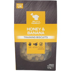 Billy & Margot Honey and Banana Training Biscuits 125g