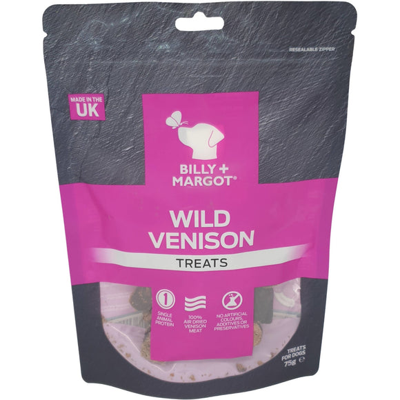 Billy & Margot Wild Venison Treats 75g