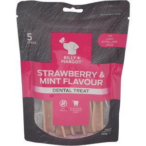Billy & Margot Strawberry & Mint Dental Treats S/M