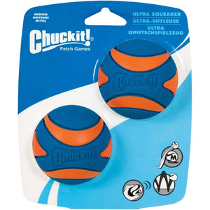 Chuckit® Ultra Squeaker Ball 2 Pack Small