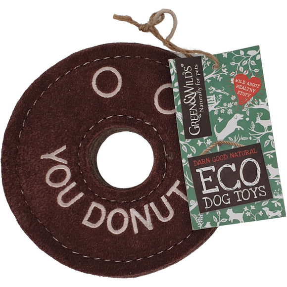 Green & Wilds Eco Dog Toy Derrick the Donut