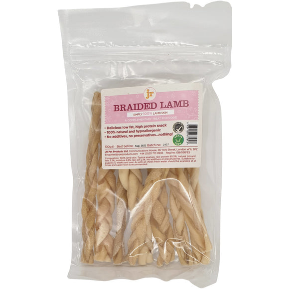 JR Pet Products Braided Lamb 100g