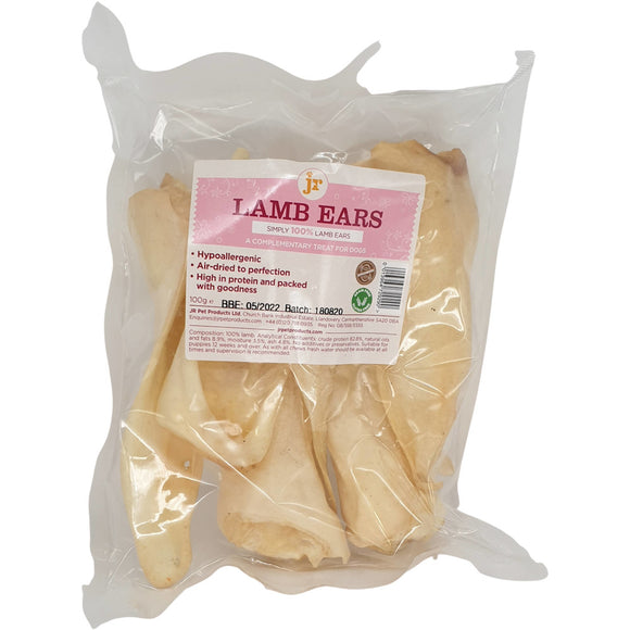 JR Pet Products Lamb Ears 100g