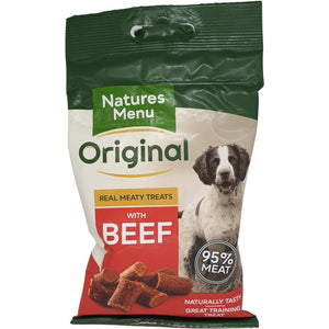 Natures Menu Real Meaty Treats with Beef 60g