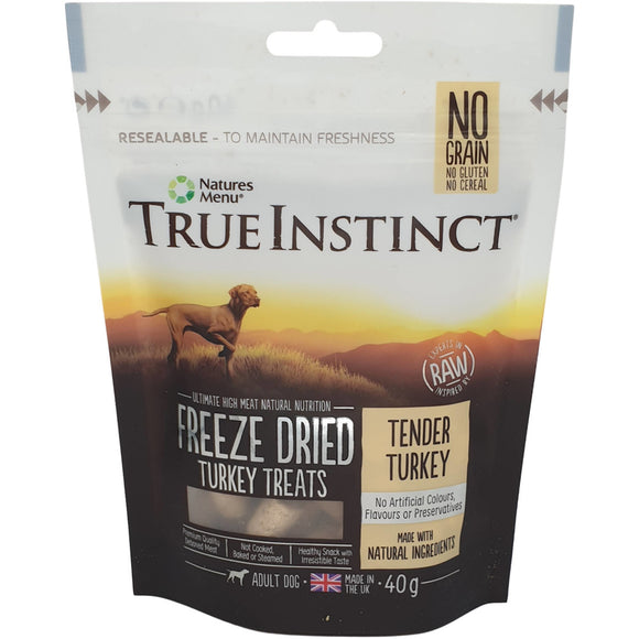 Natures Menu True Instinct Freeze Dried Turkey Treats 40g