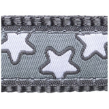 Red Dingo Design Dog Lead 1.2m Grey with Stars