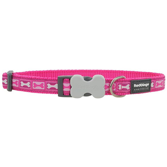 Red Dingo Design Dog Collar Pink Boneyard