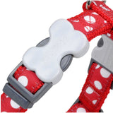 Red Dingo Design Dog Harness Red with Spots