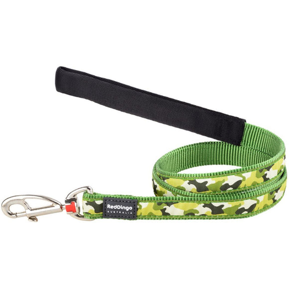 Red Dingo Design Dog Lead 1.2m Green Camouflage