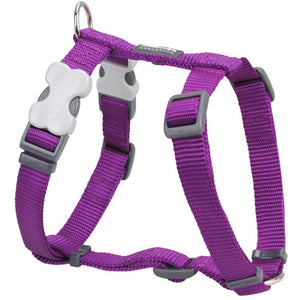 Red Dingo Plain Dog Harness Purple