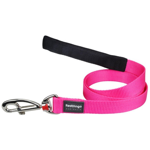 Red Dingo Plain Dog Lead 1.2m Pink