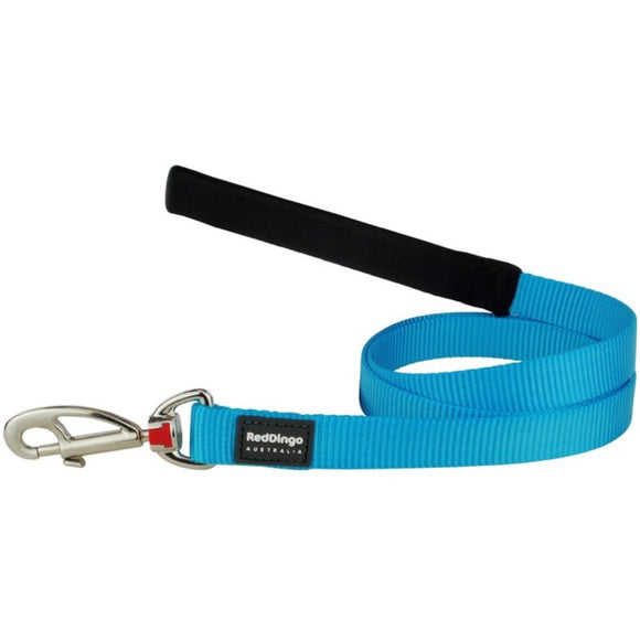 Red Dingo Plain Dog Lead 1.2m Turquoise