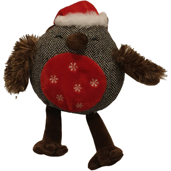 Rosewood Cupid & Comet Squeaky Noel Owl - Christmas Toy for Dogs