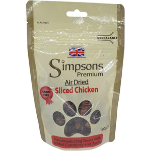 Simpsons Air Dried Sliced Chicken 100g