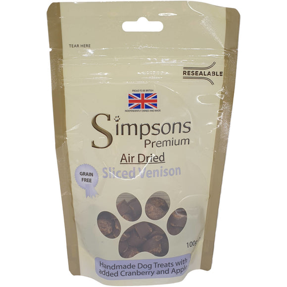 Simpsons Air Dried Sliced Venison 100g