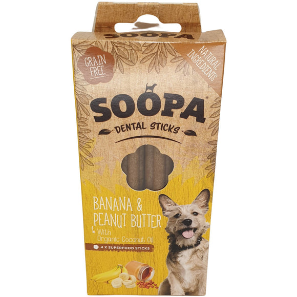 Soopa Banana & Peanut Butter Dental Sticks 100g