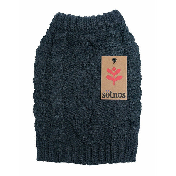 Sotnos Grey Cable Knit Sweater