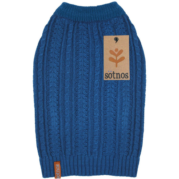 Sotnos Teal Cable Knit Sweater