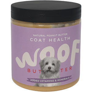 Woof Butter - Natural Peanut Butter for Dogs Coat Health 250g