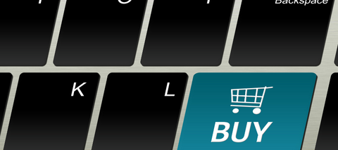 Computer keyboard with a buy key