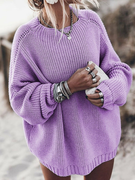 Loose Knitted Autumn Winter Knitwear Pullover