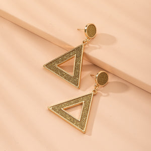 Glitter Triangle Charm Drop Earrings - Southern Rae's